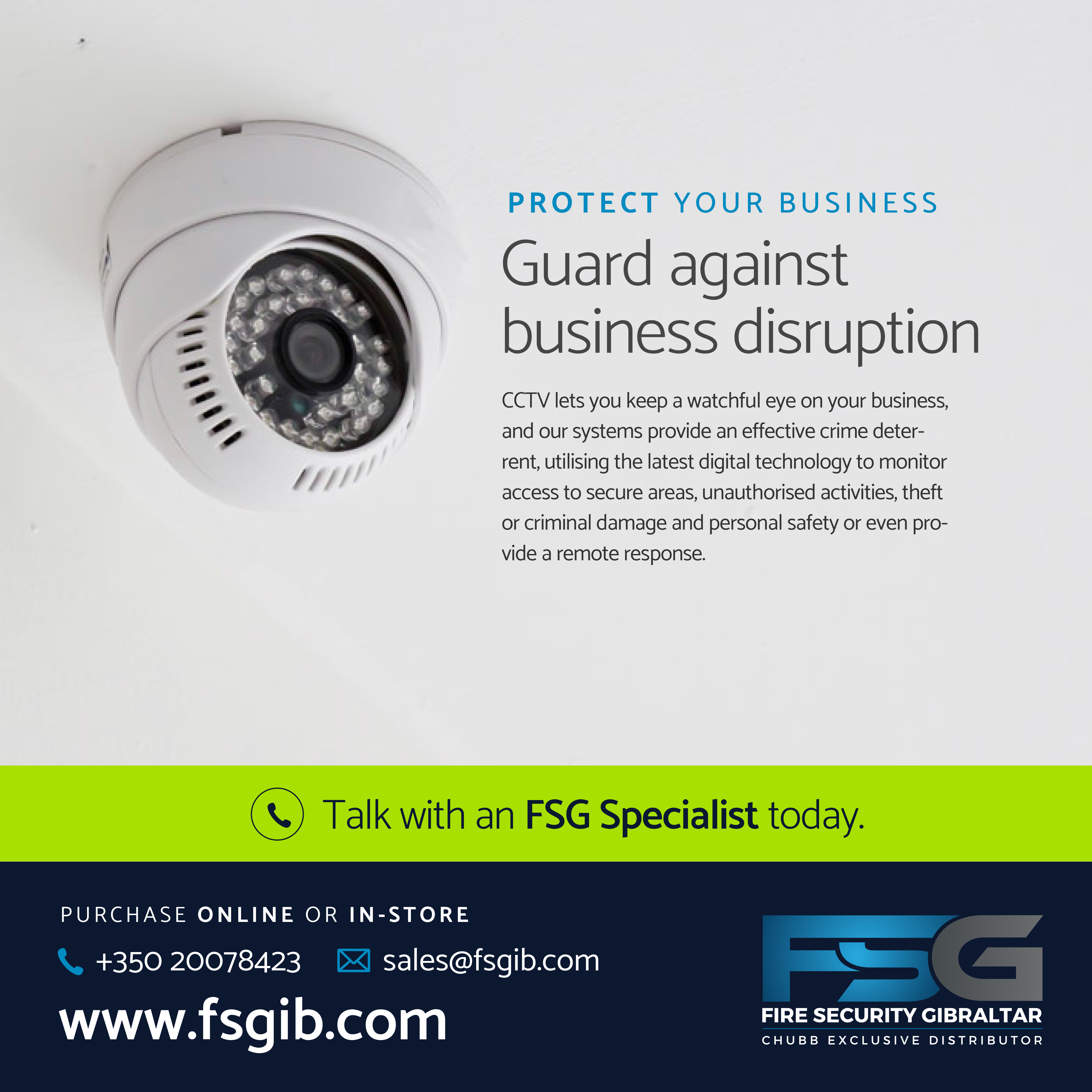 Guard against business disruption